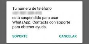 bloqueo cuenta Whatsapp